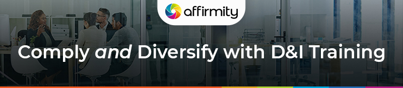 Affirmity banner comply and diversify with D&I insights