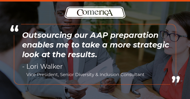 Comerica compliance leader quote on AAP preparation