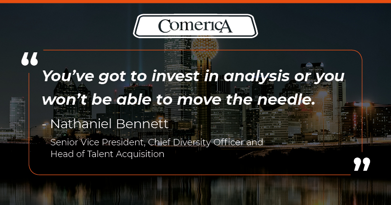 Comerica leader quote on investing in analysis