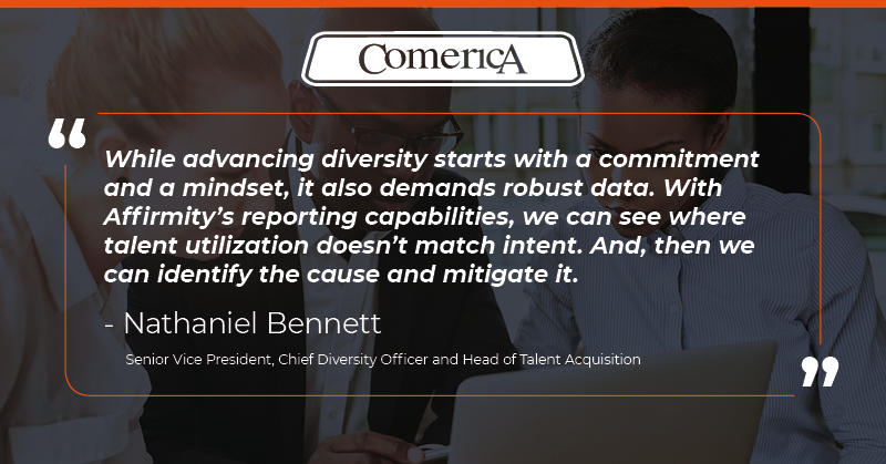 Comerica leader quote on workforce data reporting